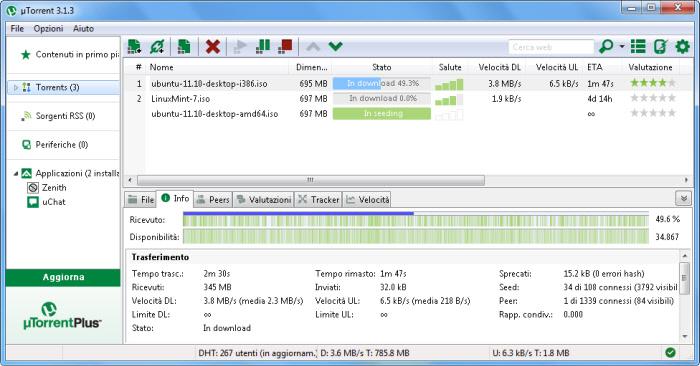 uTorrent en populär klient